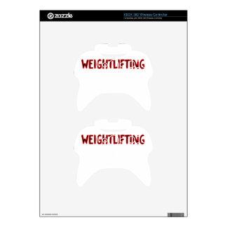 Weightlifting Design Xbox 360 Controller Skin