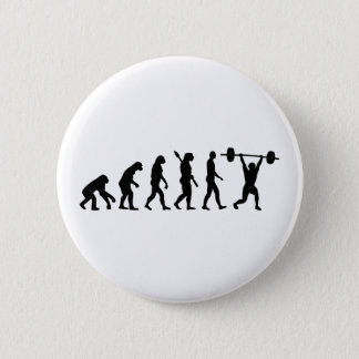 Weightlifting evolution pinback button