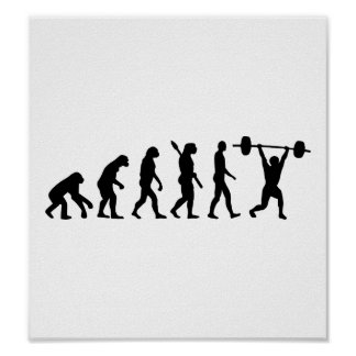 Weightlifting evolution posters