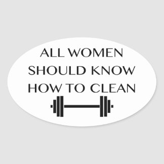 Weightlifting For Women Oval Sticker