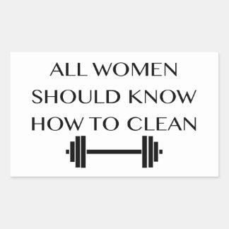 Weightlifting For Women Rectangular Sticker