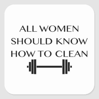 Weightlifting For Women Square Sticker