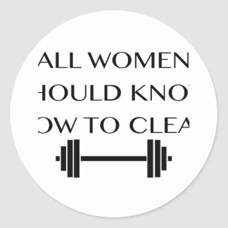Weightlifting For Women Classic Round Sticker
