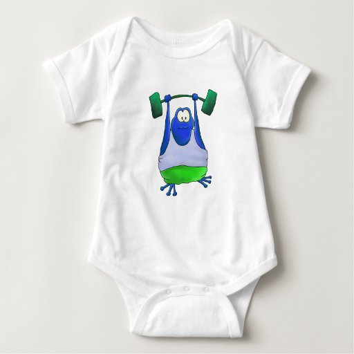 Weightlifting Frog Baby Bodysuit