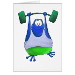Weightlifting Frog Card