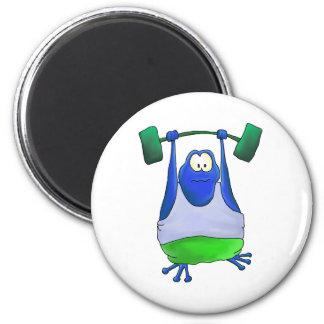 Weightlifting Frog Magnet