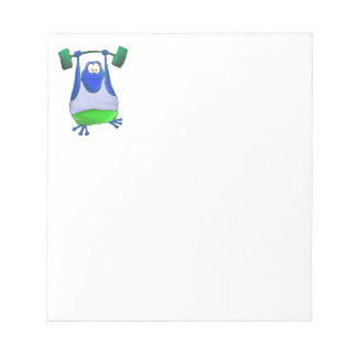 Weightlifting Frog Notepad