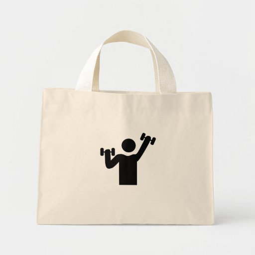 Weightlifting Gym Icon Mini Tote Bag