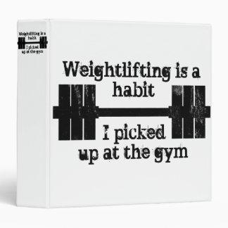 Weightlifting Habit 3 Ring Binder