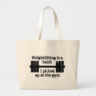 Weightlifting Habit Jumbo Tote Bag
