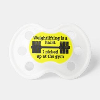 Weightlifting Habit BooginHead Pacifier