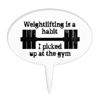 Weightlifting Habit Cake Toppers