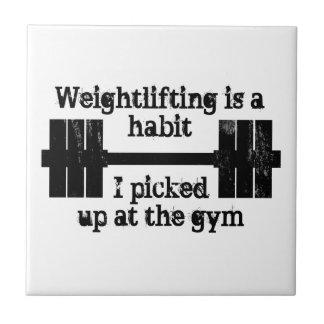 Weightlifting Habit Ceramic Tile