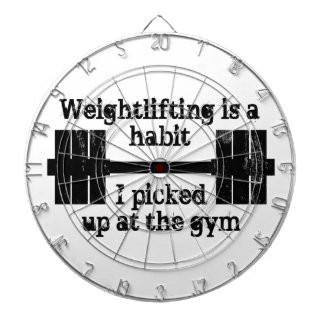 Weightlifting Habit Dartboards
