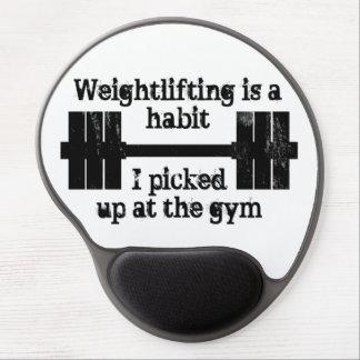 Weightlifting Habit Gel Mouse Pad