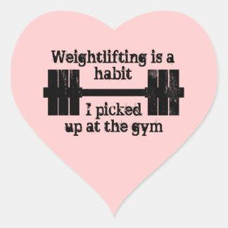 Weightlifting Habit Heart Sticker