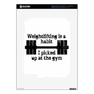 Weightlifting Habit iPad 3 Decal