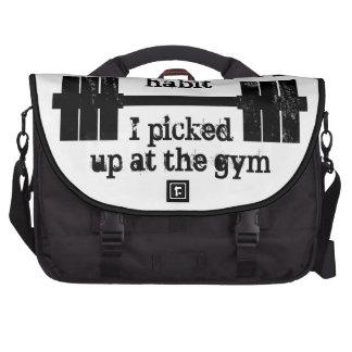 Weightlifting Habit Laptop Messenger Bag