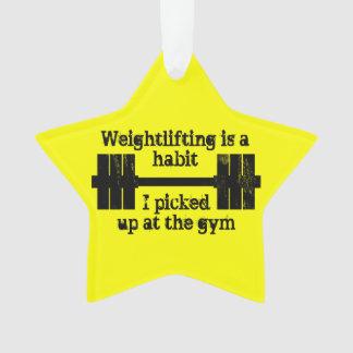 Weightlifting Habit Ornament