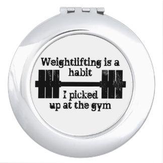 Weightlifting Habit Travel Mirror