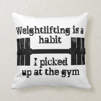 Weightlifting Habit Pillows