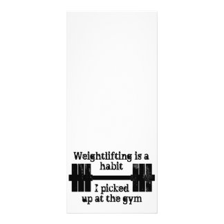Weightlifting Habit Rack Card