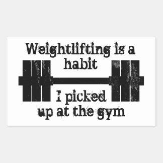 Weightlifting Habit Rectangular Sticker