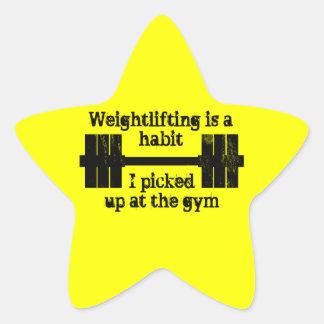 Weightlifting Habit Star Sticker