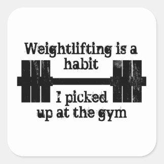 Weightlifting Habit Square Sticker