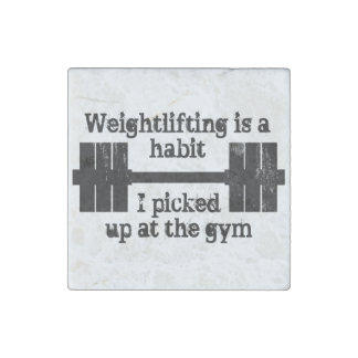 Weightlifting Habit Stone Magnet