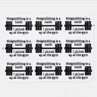Weightlifting Habit Swaddle Blanket