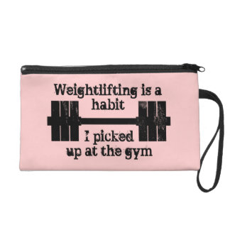Weightlifting Habit Wristlet Purse