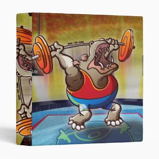 Weightlifting Hippopotamus 3 Ring Binder