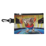 Weightlifting Hippopotamus Accessory Bags