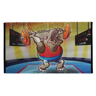Weightlifting Hippopotamus iPad Cases