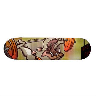 Weightlifting Hippopotamus Skateboard