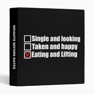 Weightlifting Humor - Single vs Taken vs Lifting Binder