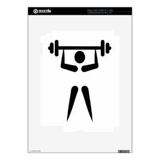 Weightlifting icon iPad 2 decals