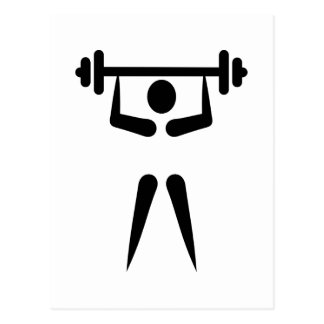 Weightlifting icon postcard