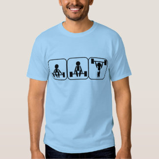 Weightlifting In Symbols T Shirts