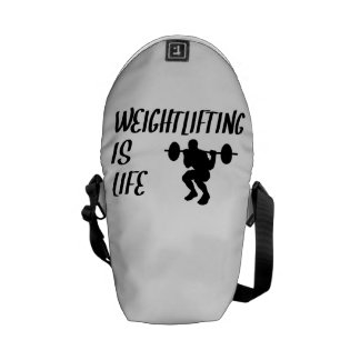 Weightlifting Is Life Courier Bags