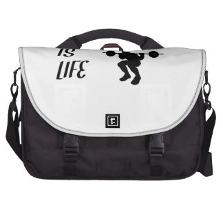Weightlifting Is Life Laptop Commuter Bag