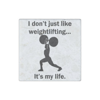 Weightlifting It's My Life Stone Magnet