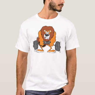Weightlifting Lion Cartoon Shirt