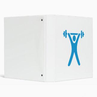 Weightlifting logo 3 ring binder