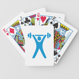 Weightlifting logo bicycle poker deck