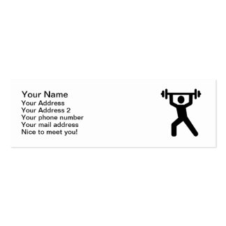 Weightlifting logo pack of skinny business cards