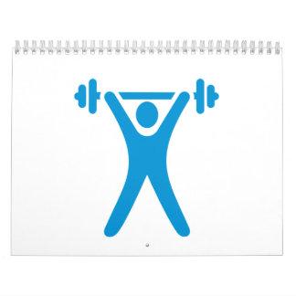 Weightlifting logo calendar