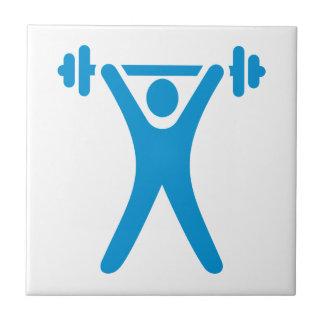 Weightlifting logo ceramic tiles