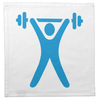 Weightlifting logo cloth napkin